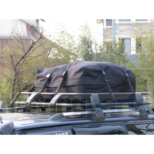 BLACK CAR ROOF TOP CARGO PACK BAG/ROOF BOX - TRAVEL ...