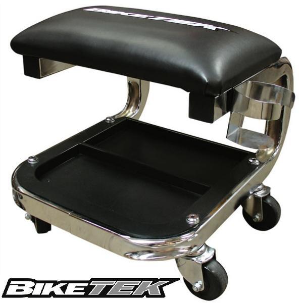 Motorcycle Seat Stool : Jumbo workshop creeper soft padded motorbike motorcycle