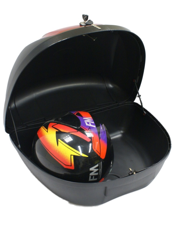 Large 52l 2 Helmet Motorcycle Top Box Luggage Storage