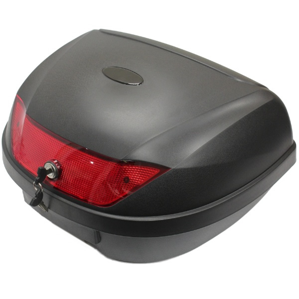 LARGE 52L 2 HELMET MOTORCYCLE TOP BOX LUGGAGE STORAGE MOTORBIKE/BIKE BACK/REAR Enlarged Preview