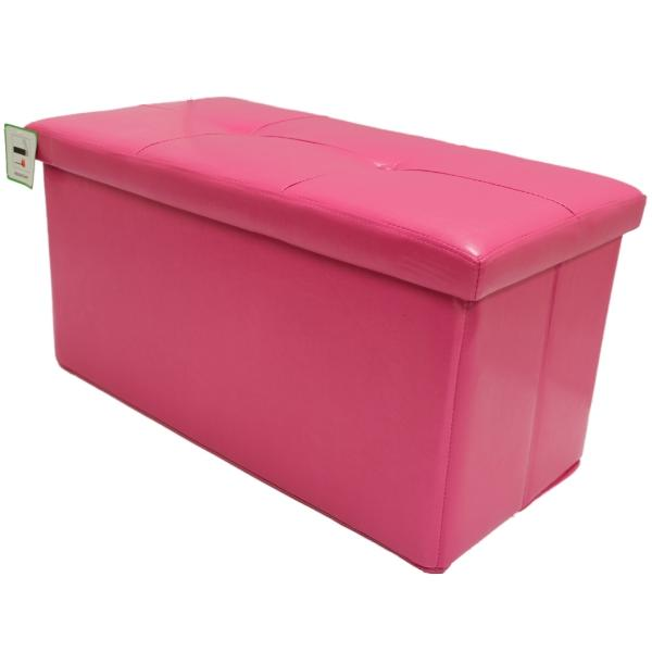 folding pink ottoman storage chest bedding box faux leather bedroom ebay