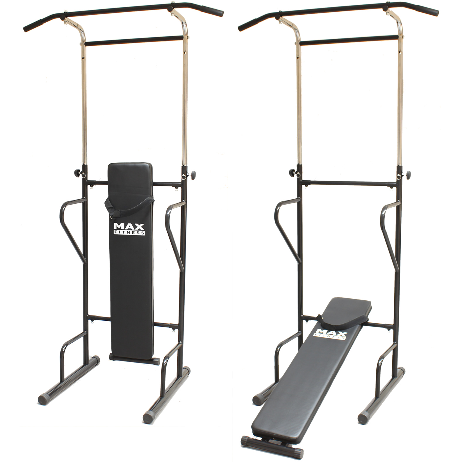max fitness power tower push pull up bar press ups sit. Black Bedroom Furniture Sets. Home Design Ideas
