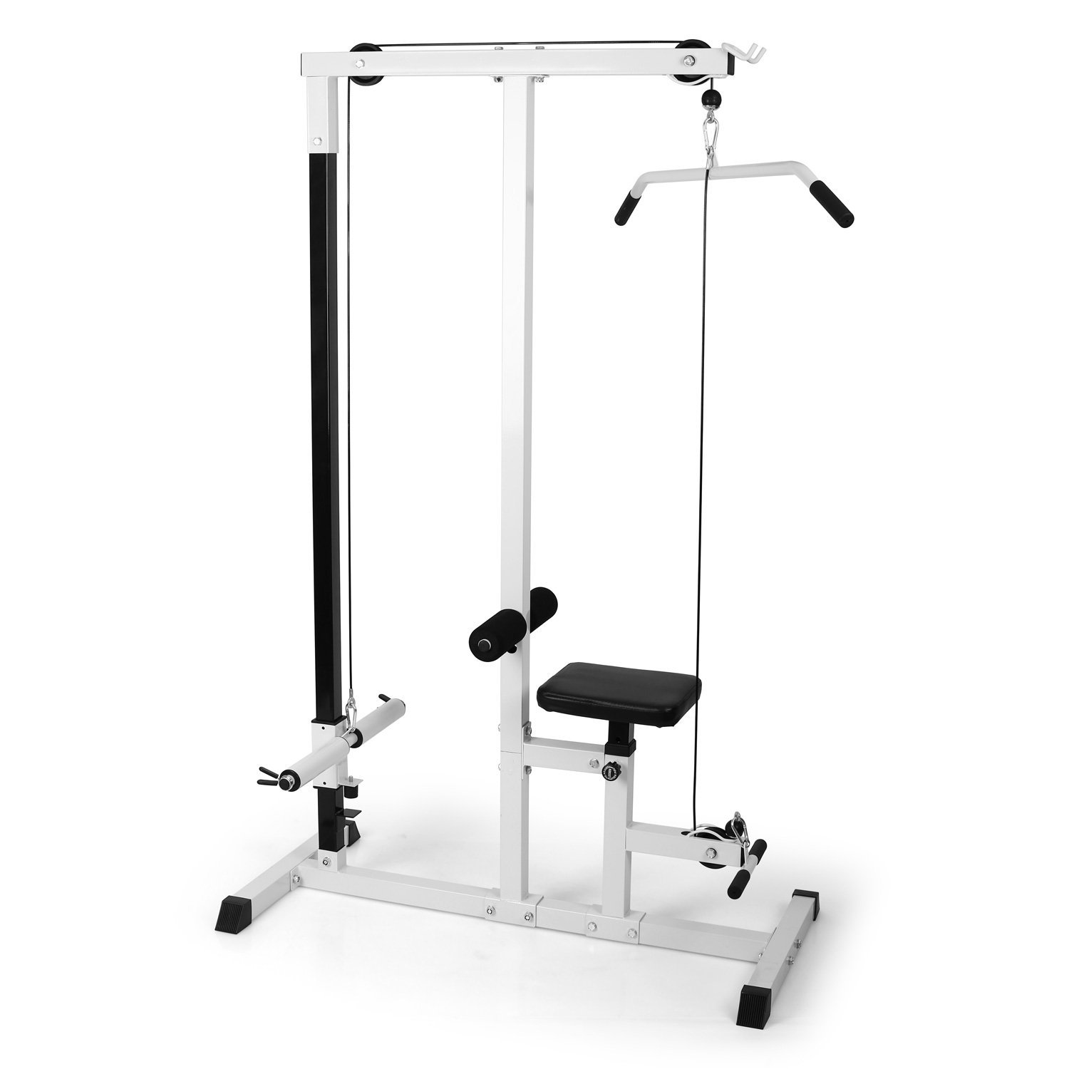 HOME FITNESS MULTI GYM LAT PULL DOWN WORKSTATION WORK OUT MACHINE BENCH EXERCISE Enlarged Preview