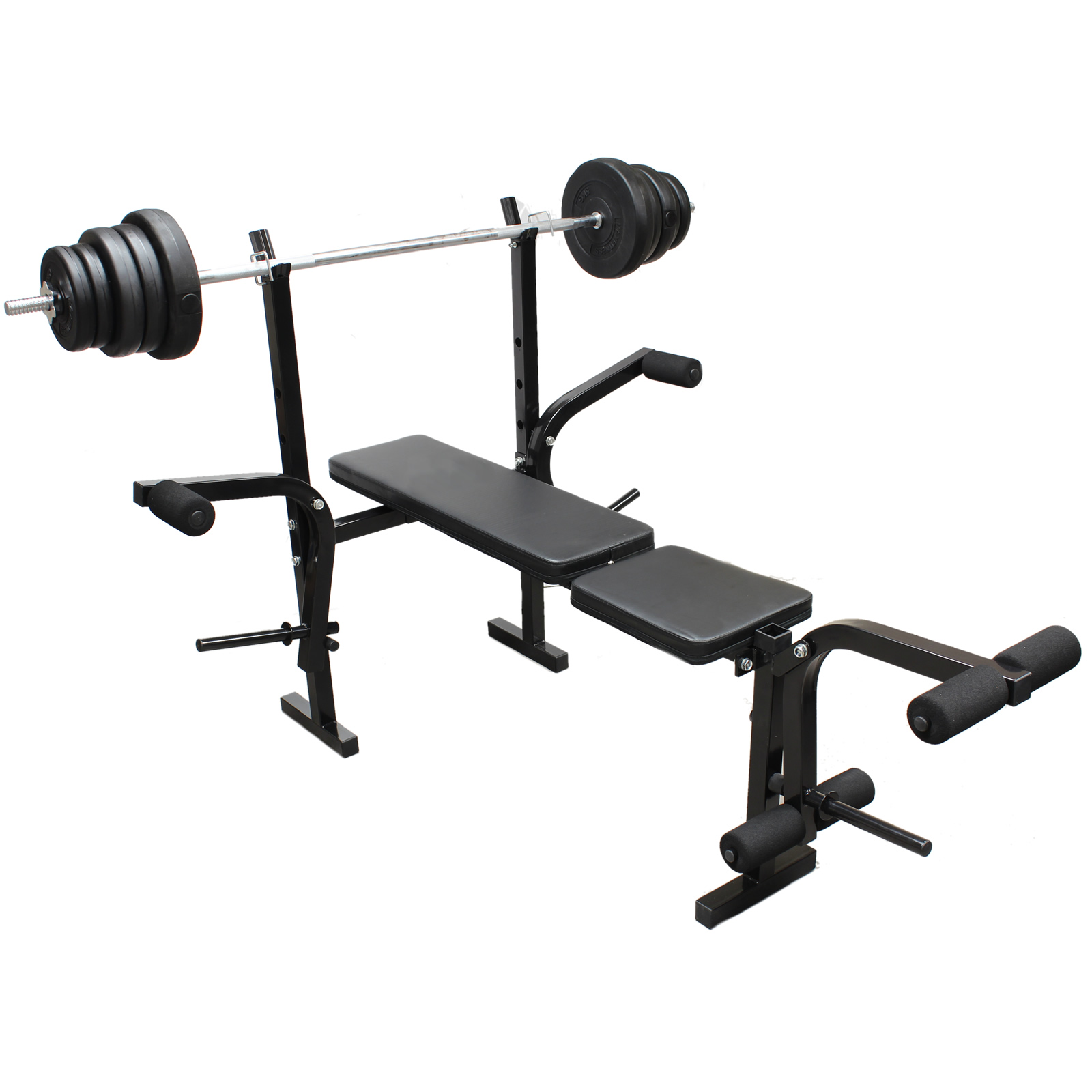 Home Exercise Equipment For Legs: Weights Bench Multi Home Gym Equipment Dumbell Workout ABS
