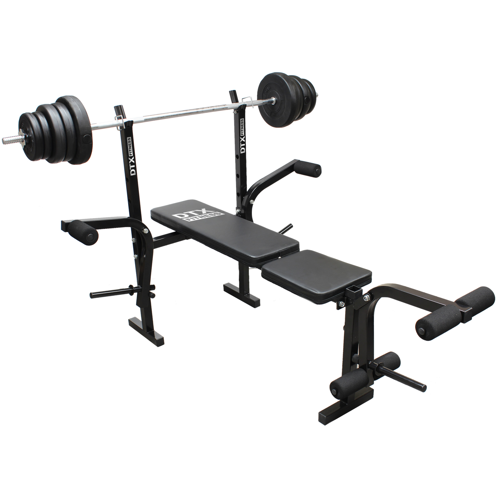 Gym Equipment Legs: DTX Fitness Weights Bench Multi Gym Dumbell Workout Leg