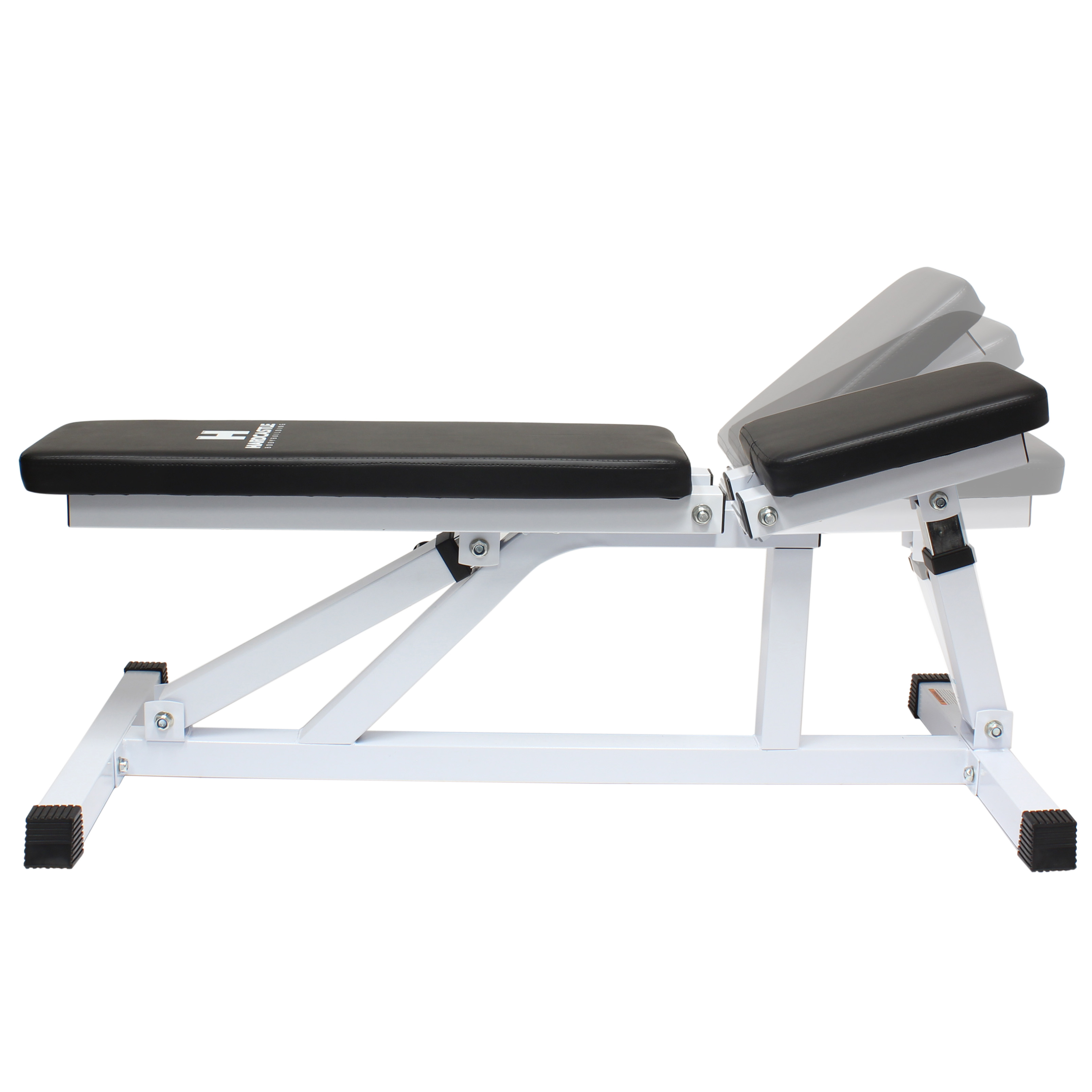 White Adjustable Flat Incline Home Gym Dumbbell Workout Weight Bench Heavy Duty