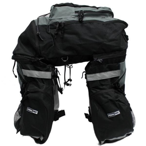 PEDALPRO LARGE BICYCLE TOURER REAR PANNIER BAG BIKE/CYCLE TWIN/DOUBLE TOURING Enlarged Preview