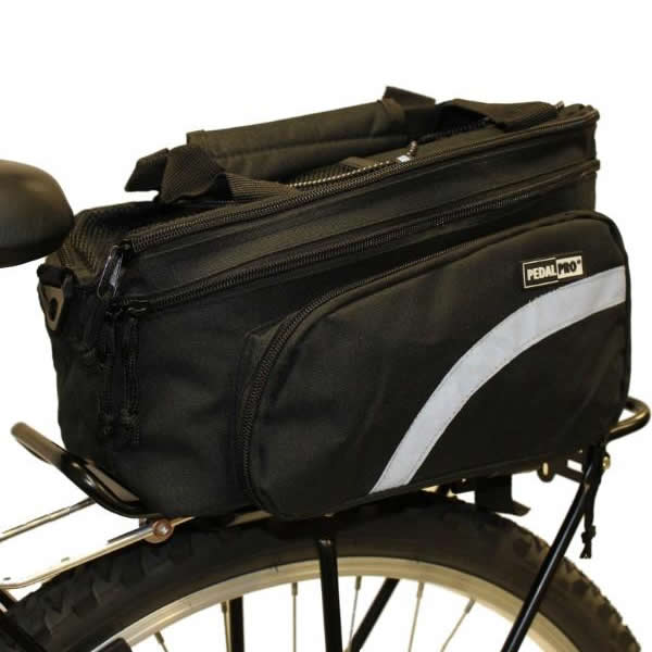 PEDALPRO BICYCLE REAR RACK PACK TAIL PANNIER BAG STORAGE BIKE/CYCLE COMMUTER NEW Enlarged Preview