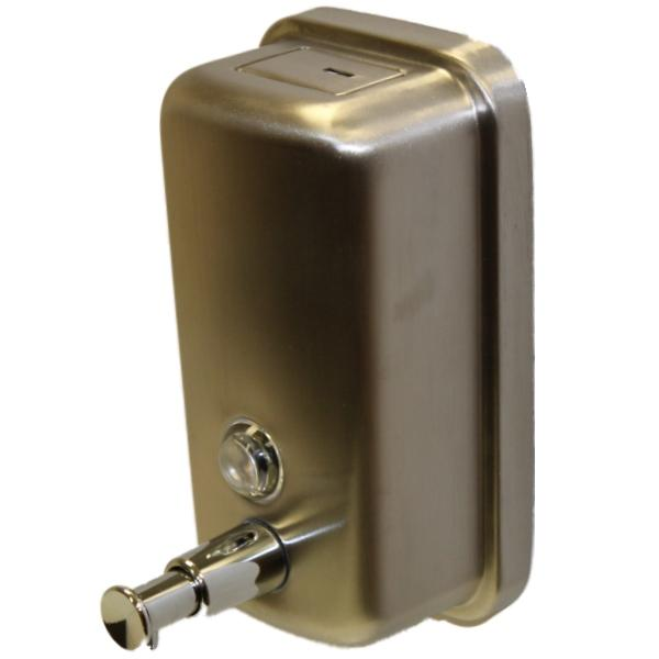 Stainless steel soap shampoo dispenser pump action wall mounted shower bathroom ebay - Wall mounted shampoo and conditioner dispenser ...