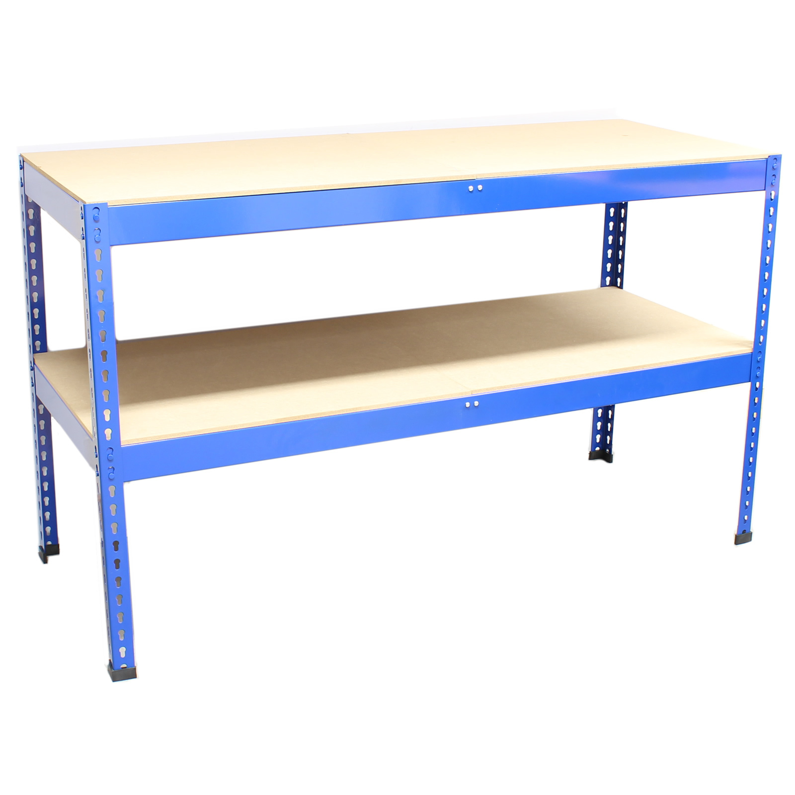 150x60x90 Heavy Duty Blue Steel Work Bench Garage Warehouse Workbench Racking Ebay