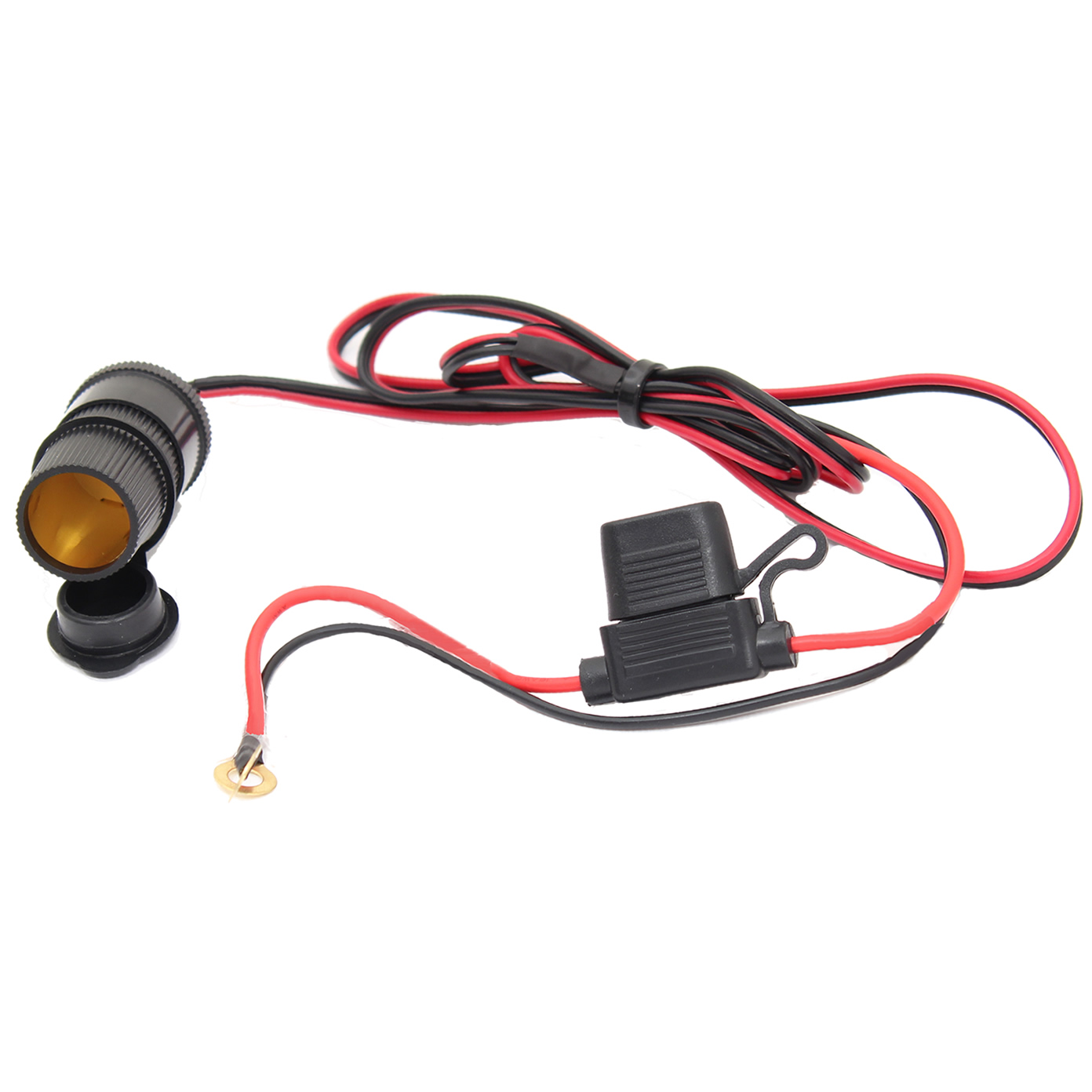 12V MOTORBIKE/MOTORCYCLE CIGARETTE LIGHTER POWER ADAPTER SOCKET WATERPROOF PLUG Enlarged Preview