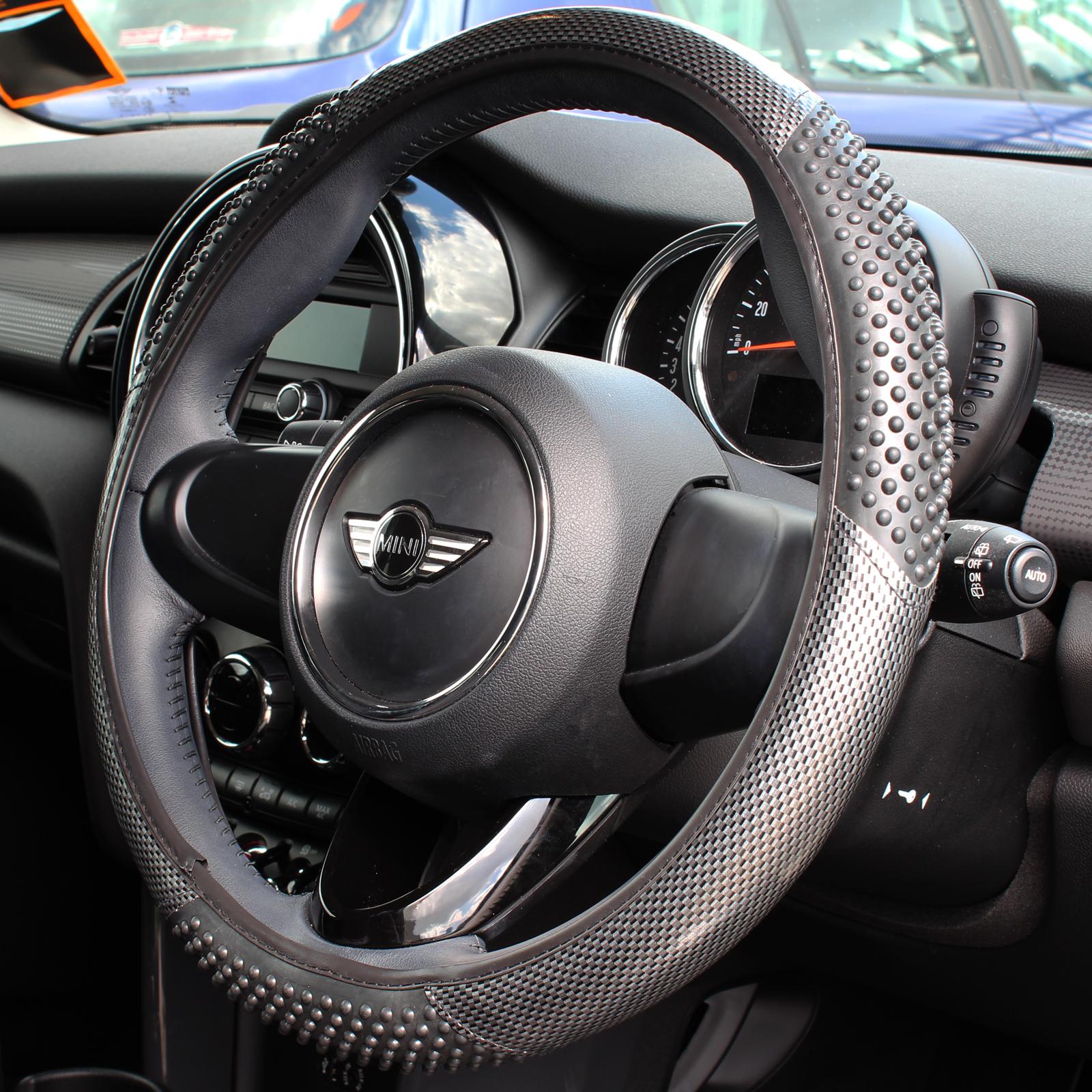 Carbon Look Massaging Car Steering Wheel Cover Glove