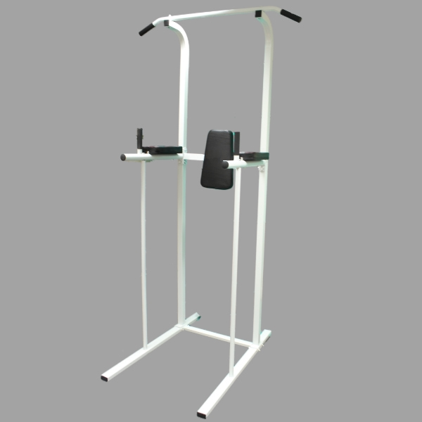 POWER TOWER AB DIP STATION PULL/CHIN UP BAR HOME GYM KNEE/LEG RAISE FITNESS/ABS Enlarged Preview