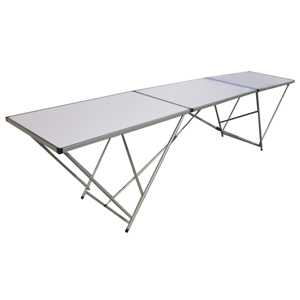 Large 3m long 3 section folding wall paper pasting table for Table 3m long