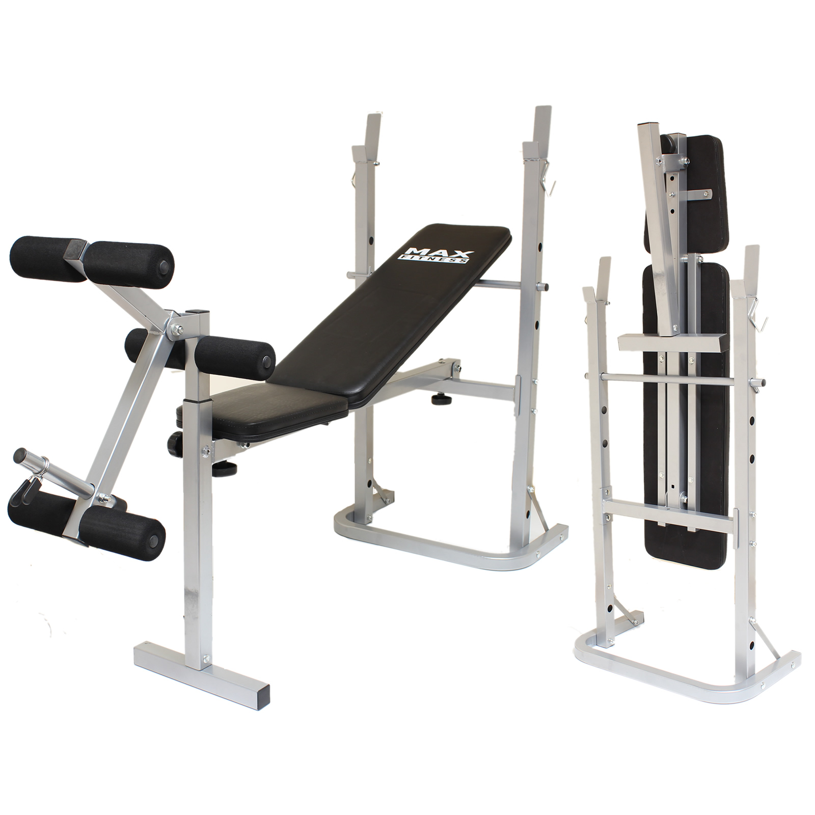 Max fitness folding weight bench home gym exercise lift lifting chest press ab ebay Weight bench and weights