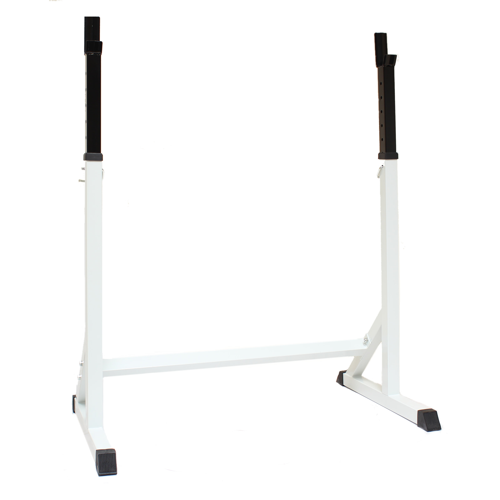 Power Rack With Weights: MAX FITNESS 7FT SQUAT STAND BARBELL/WEIGHTS SPOTTERS GYM