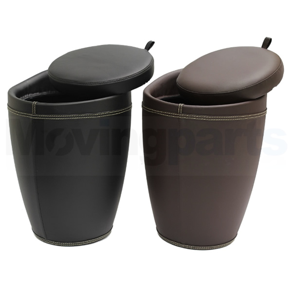 Thumbnail 1 ... - FAUX LEATHER WIZARD HIDDEN STORAGE OTTOMAN STOOL/BOX TUB/BARREL
