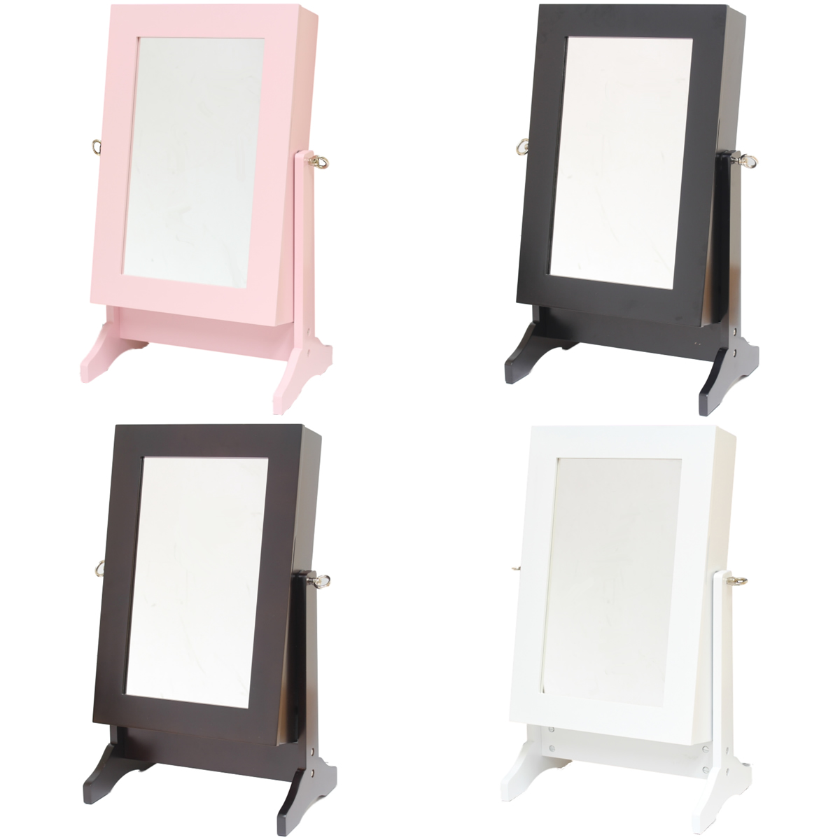 jewellery box organiser stand dressing table mirror for earring ring necklace ebay. Black Bedroom Furniture Sets. Home Design Ideas