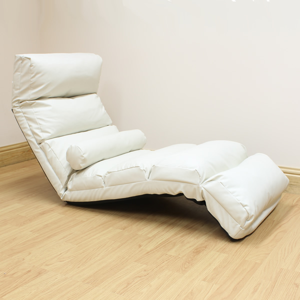 Cream lounger chaise longue day bed adjustable lounge seat for Chaise longue day bed