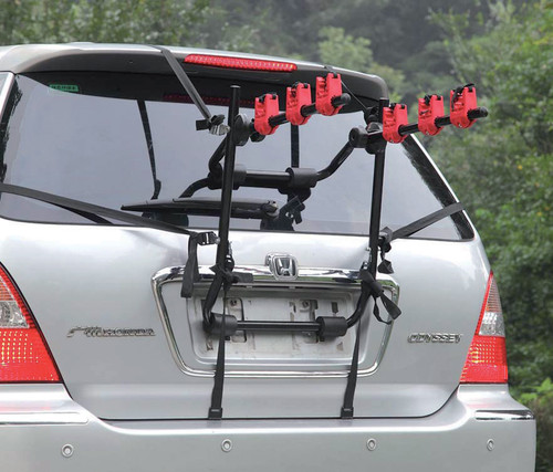 3 Bike Fully Adjustable Rear Mounted Car Bicycle Holder