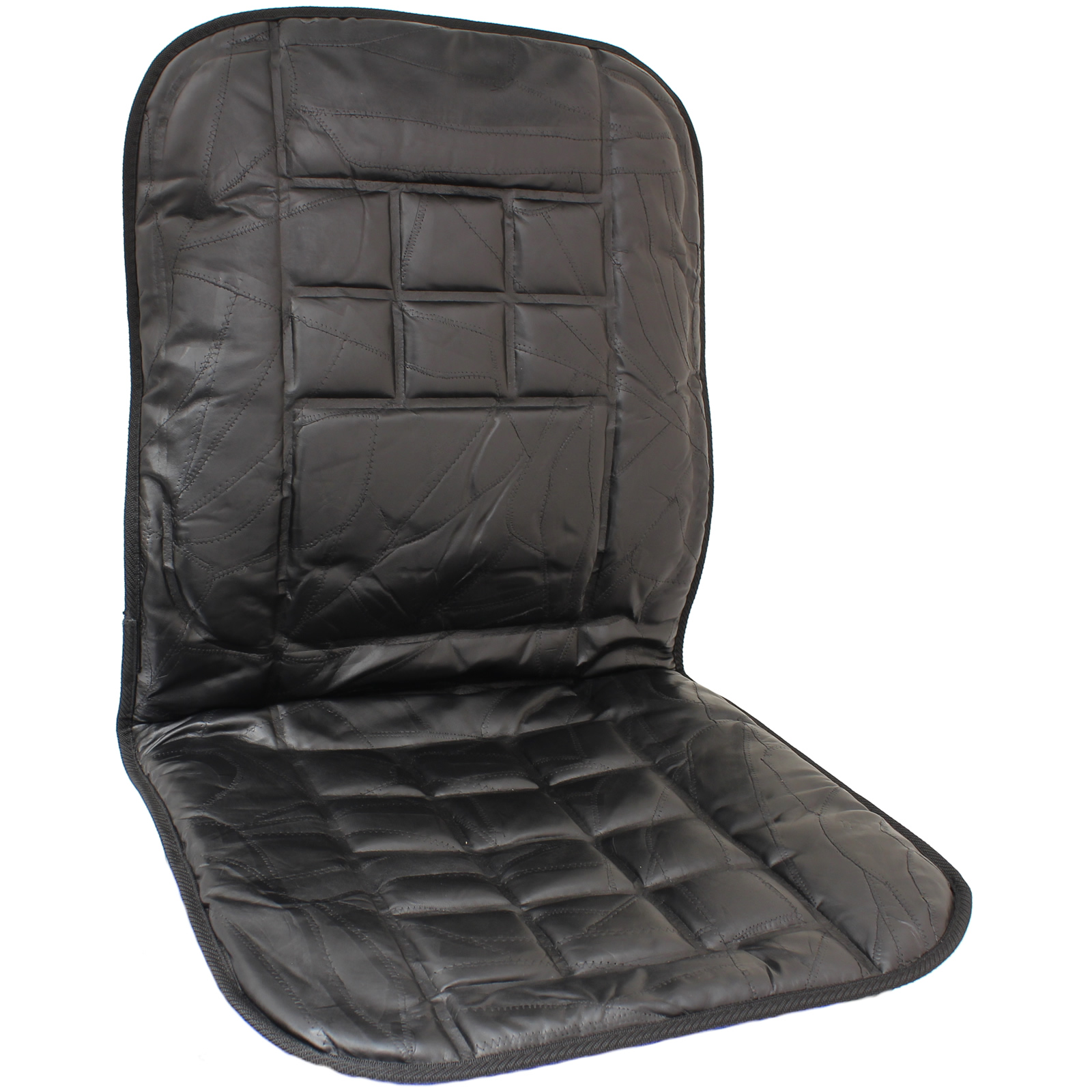 leather car front seat cushion protector orthopaedic back support massage cover ebay. Black Bedroom Furniture Sets. Home Design Ideas
