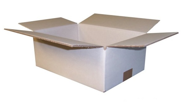 10 x STRONG DOUBLE WALL LARGE WHITE CARDBOARD BOXES POST PARCEL PACKING BOX  Enlarged Preview