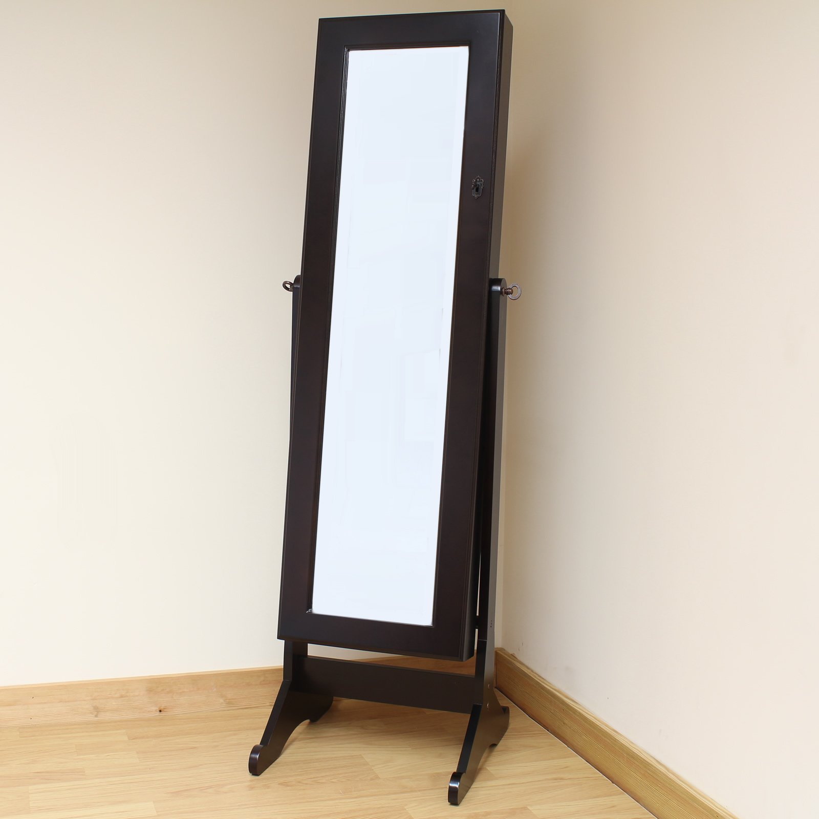 hartleys brown full length floor standing mirror jewellery
