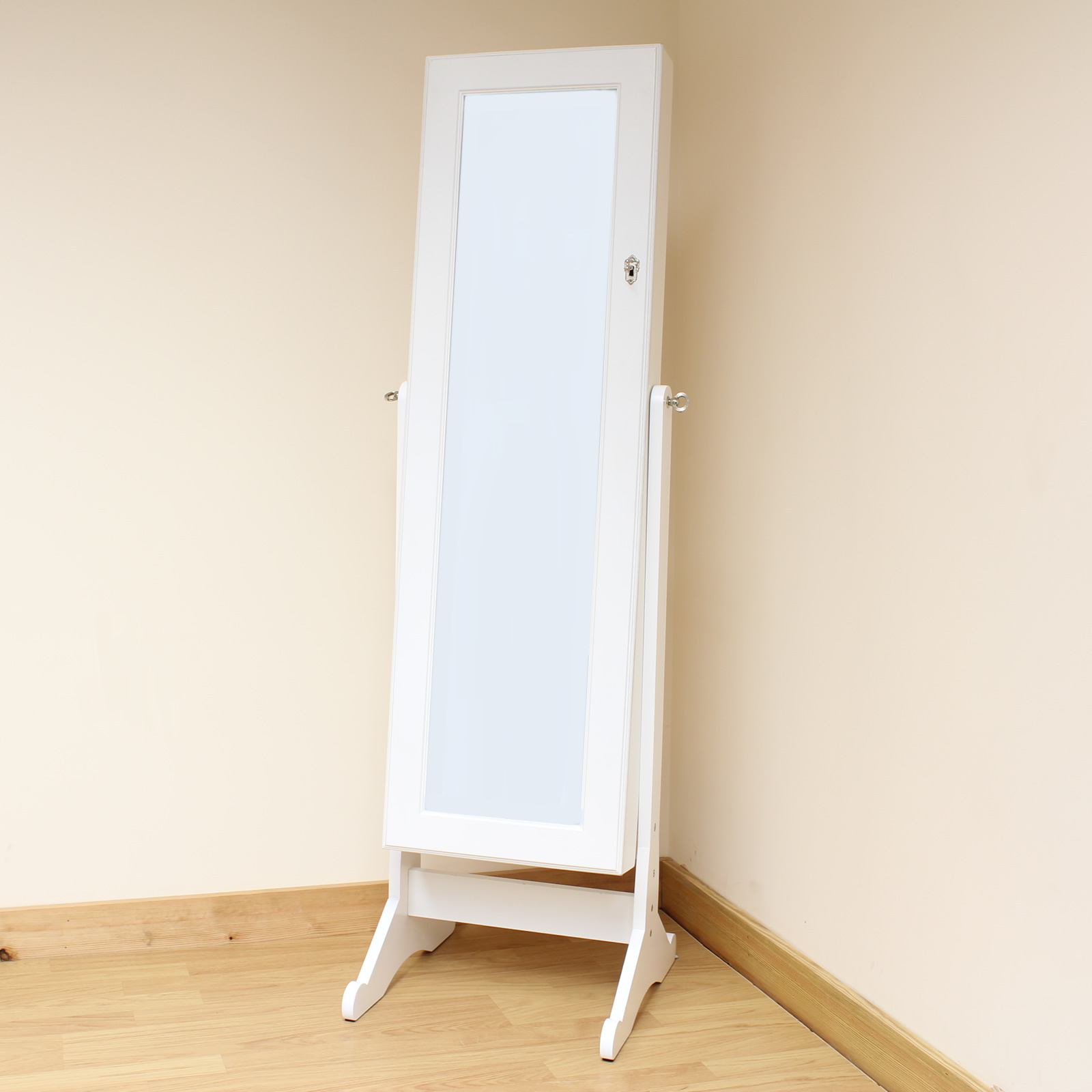 Hartleys White Full Length Floor Standing Mirror Jewellery