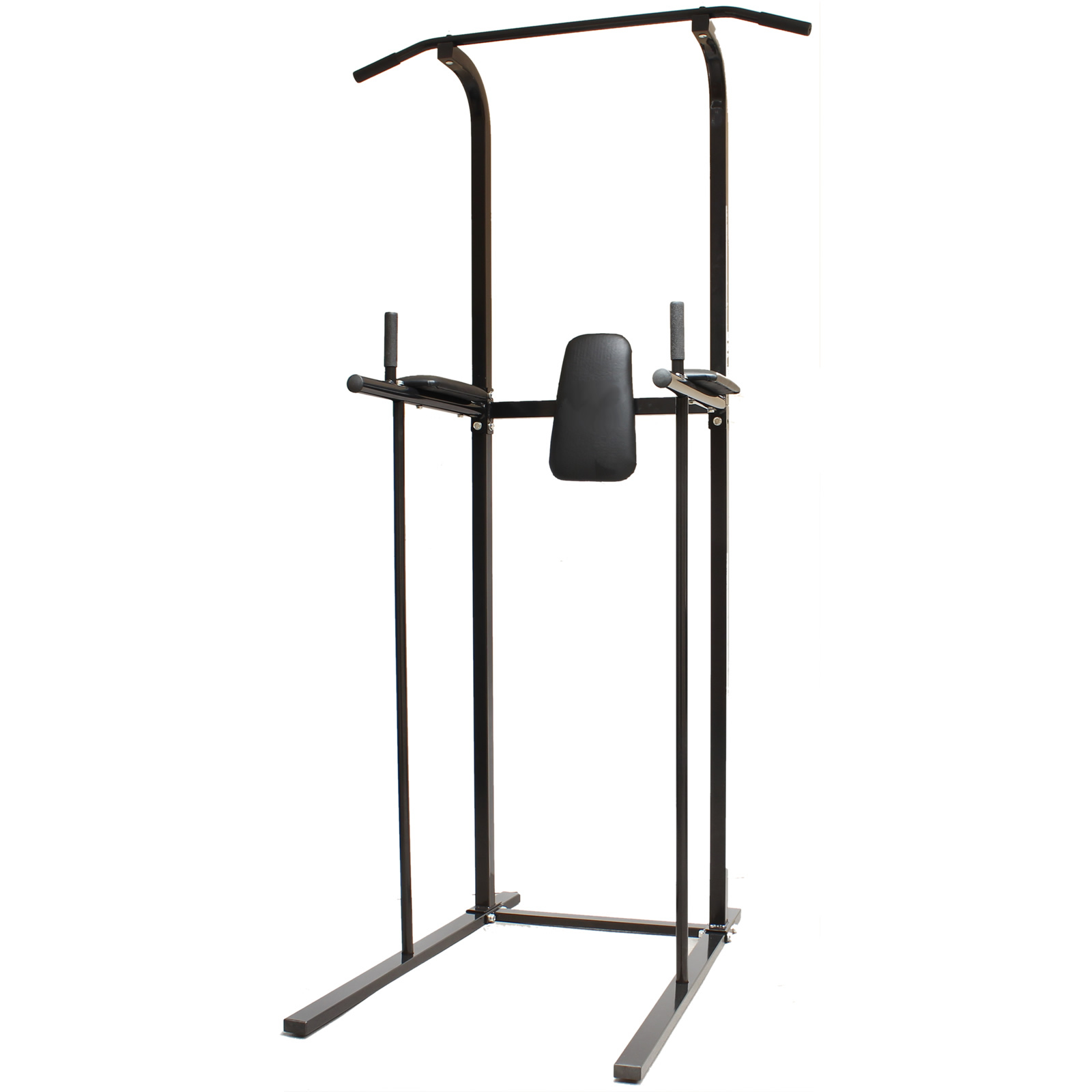 black home gym power tower dip station pull chin up bar. Black Bedroom Furniture Sets. Home Design Ideas