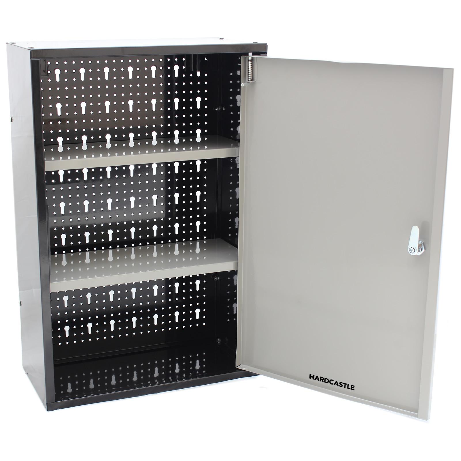 Lockable Metal Garage Shed Storage Cabinet Wall Unit Tool
