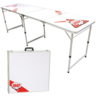 View Item White Beer Pong Table - Official Size - Folding Design