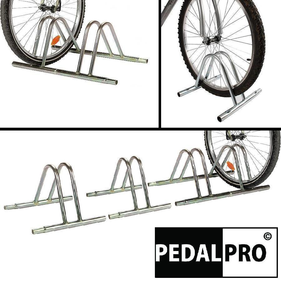 PEDALPRO BIKE FLOOR MOUNTED STORAGE RACK STAND FOR CYCLE/BICYCLE GARAGE OUTDOOR Enlarged Preview