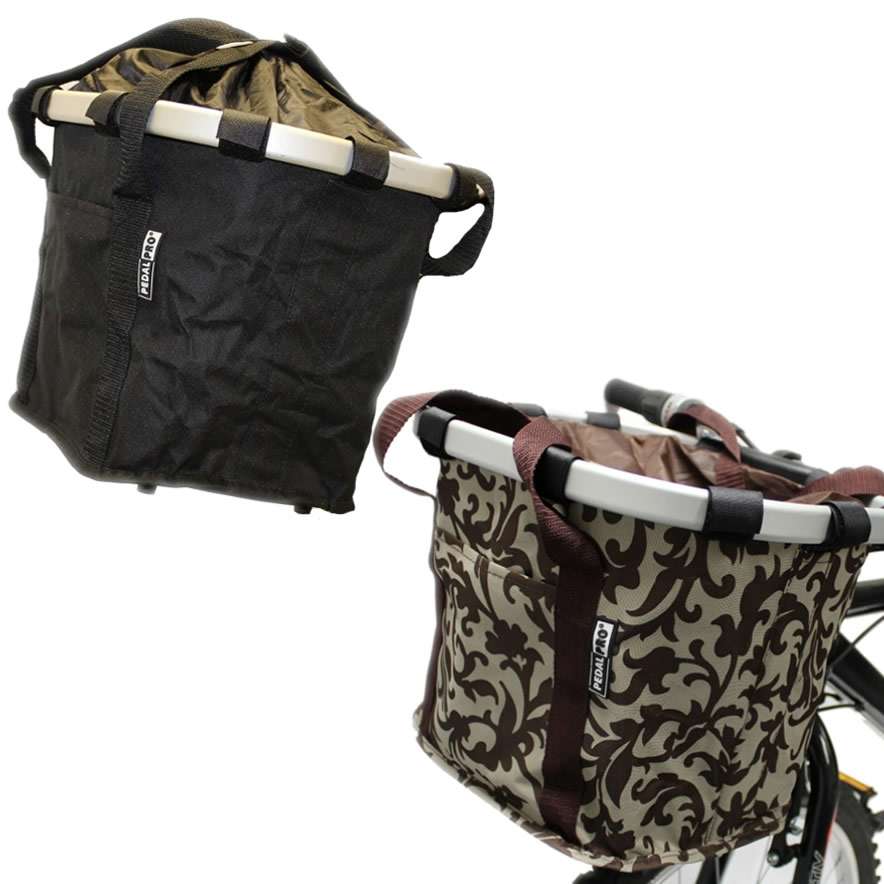 PEDALPRO BICYCLE QUICK RELEASE MATERIAL FOLDING BASKET BIKE/CYCLE/SHOPPING BAG Enlarged Preview