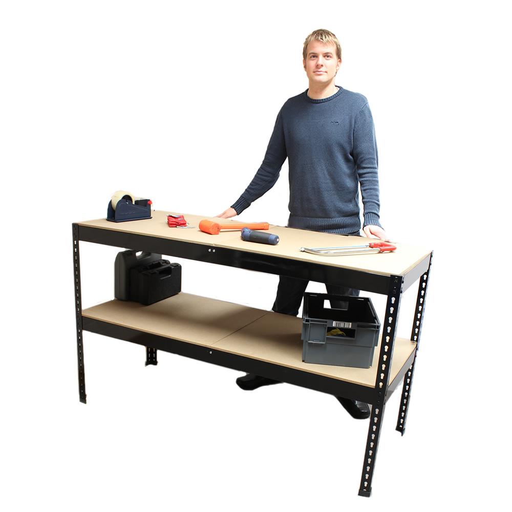 Heavy Duty Metal Workbench For Garage Workshop Shed Work Bench Station Ebay