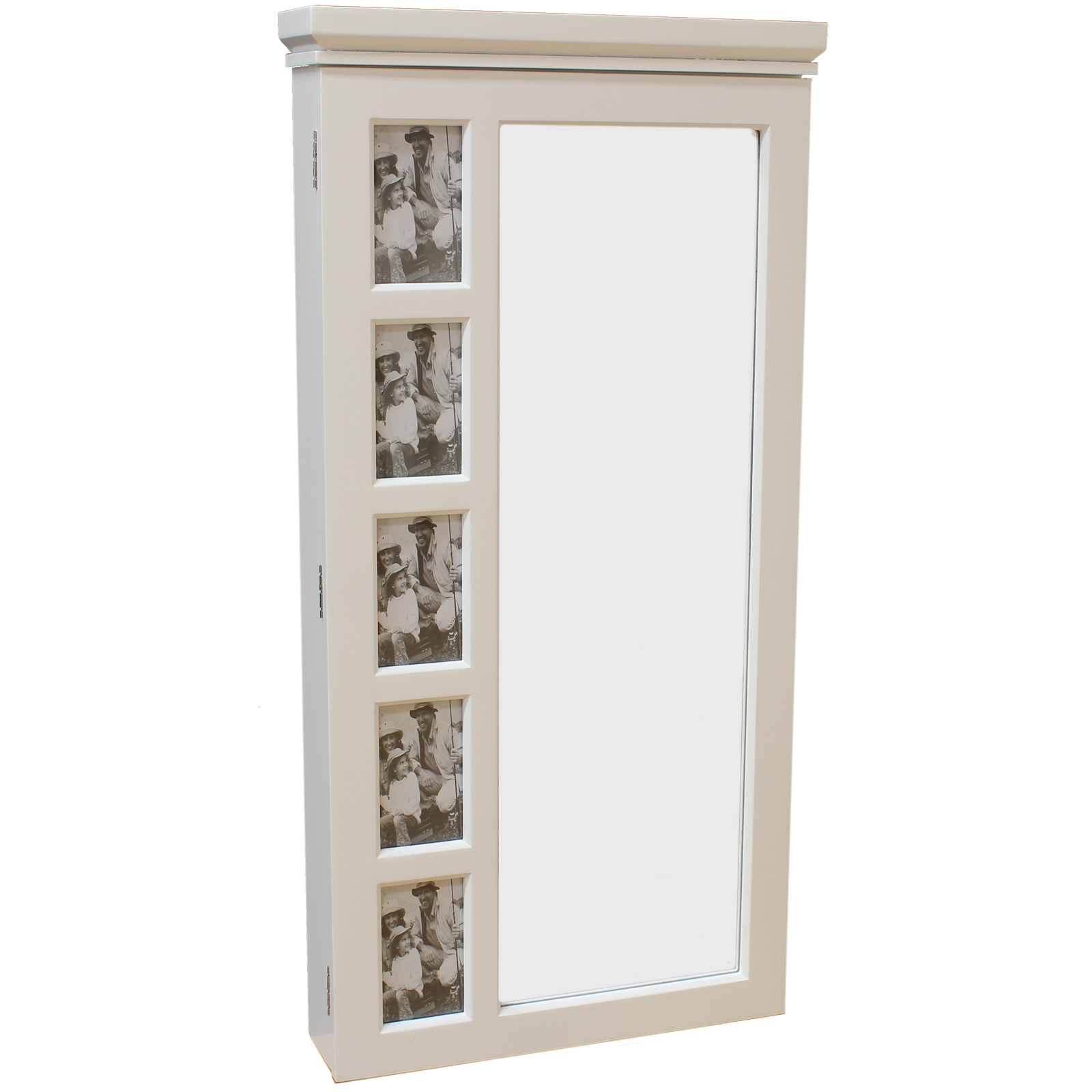 sale white wall mounted mirror jewellery cabinet