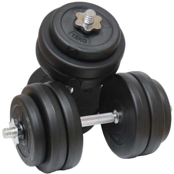 30kg Dumbbell Free Weights Set Gym Barbells Biceps Arms
