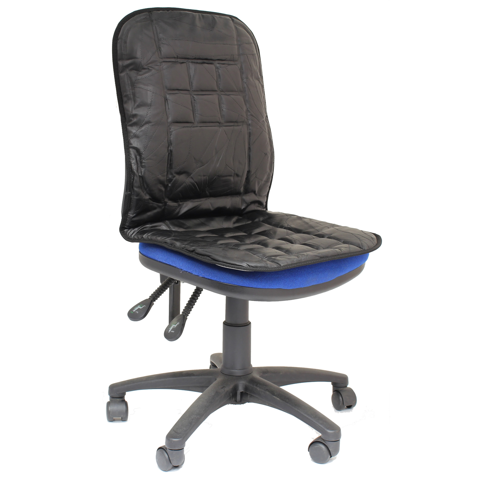 ORTHOPAEDIC LEATHER DESK OFFICE CHAIR BACK SEAT CUSHION LUMBAR SUPPORT