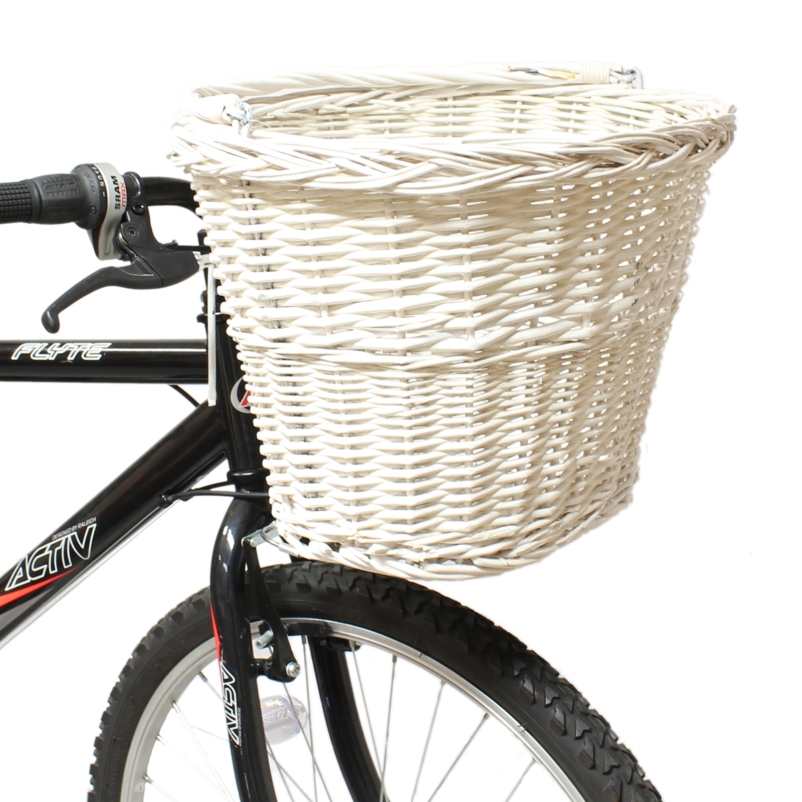 Wicker Bicycle Basket With Handle : Pedalpro white wicker bicycle ping basket carry handle