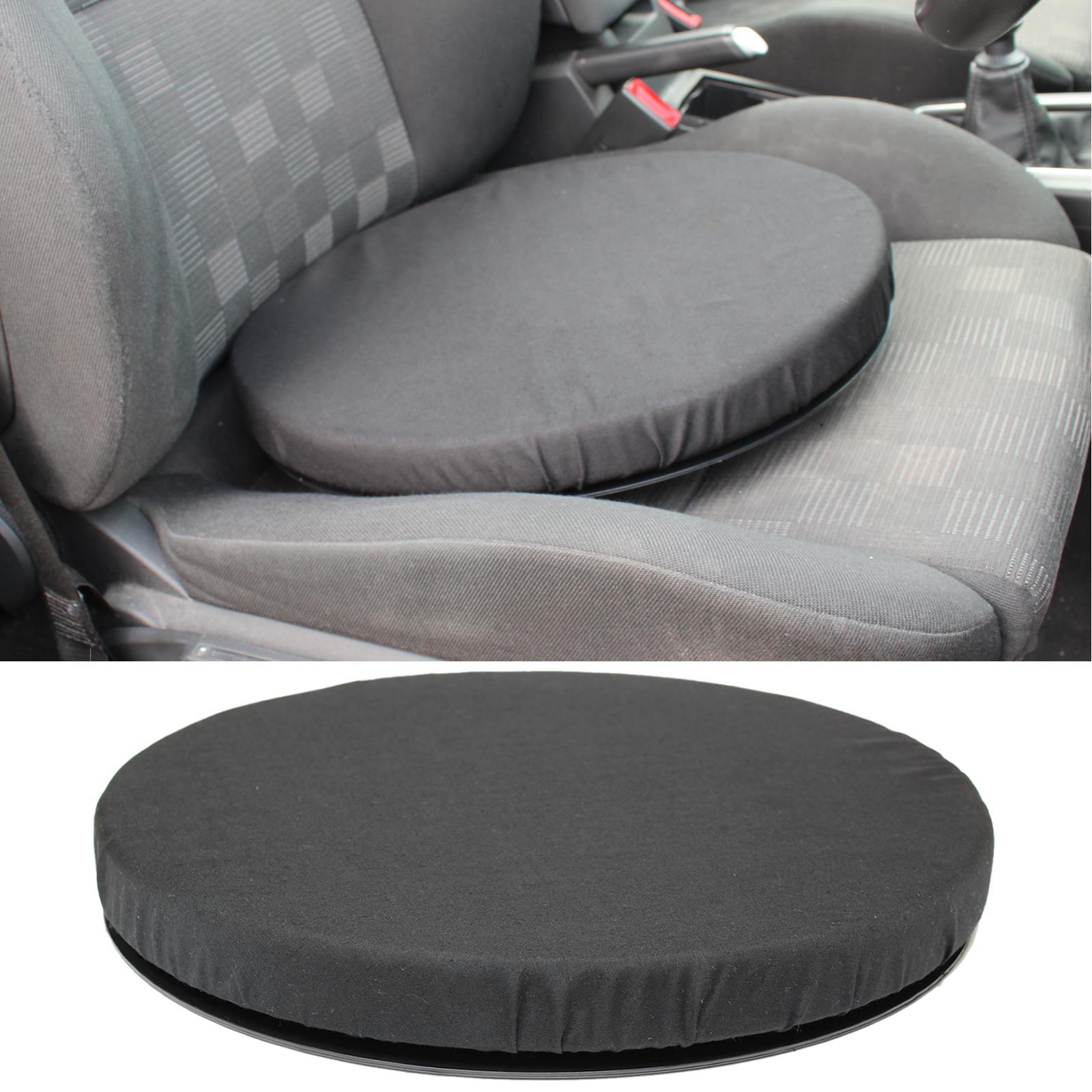 Black Memory Foam Rotating Seat Chair Swivel Cushion Chair