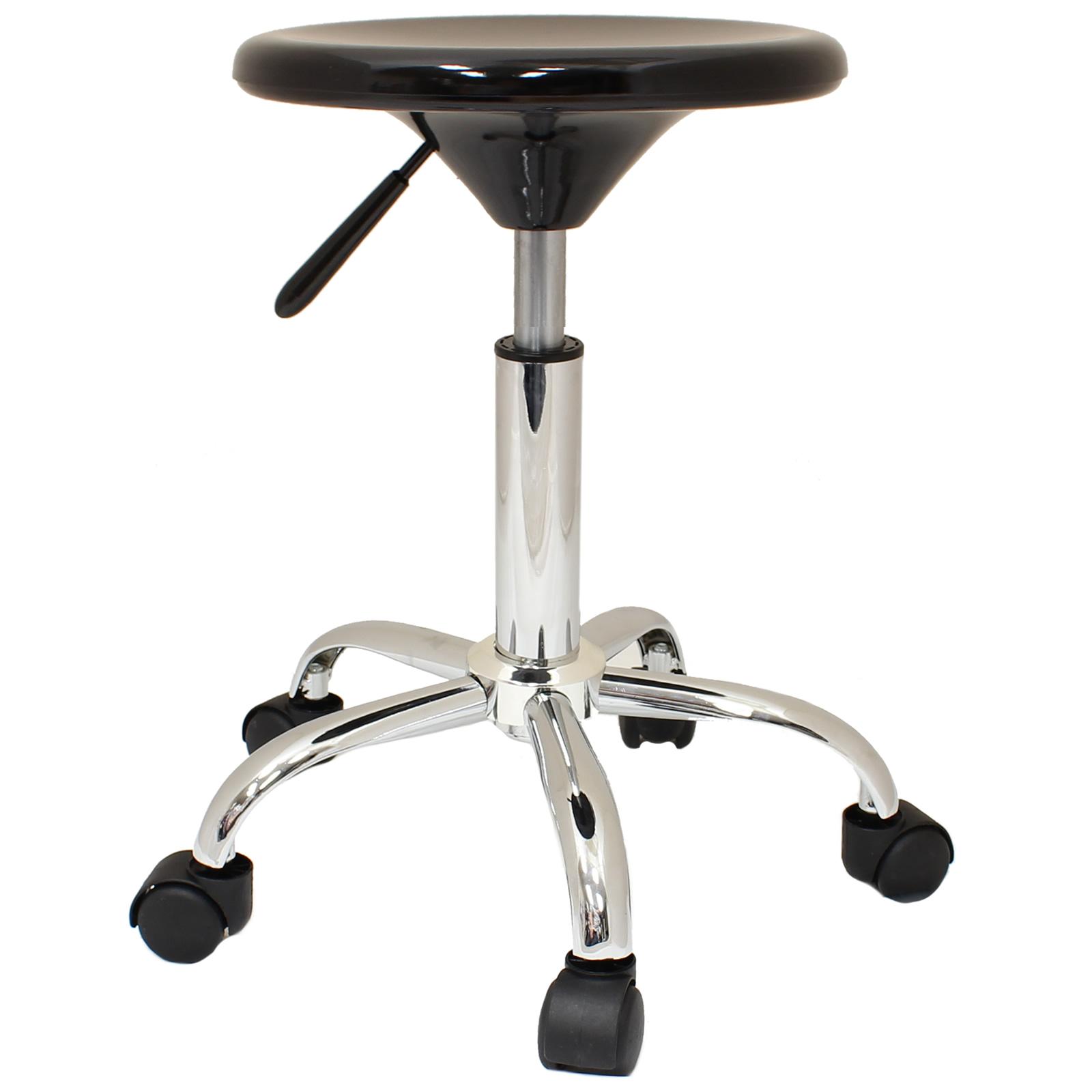 Black Adjustable Swivel Chair Stool Tattoo Nail Technician