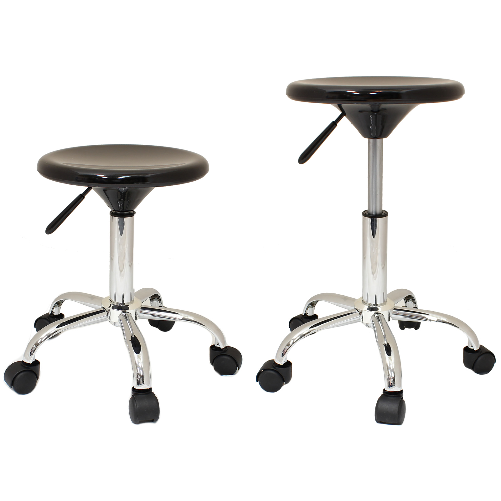 Black Adjustable Swivel Chair Stool Tattoo Nail Technician