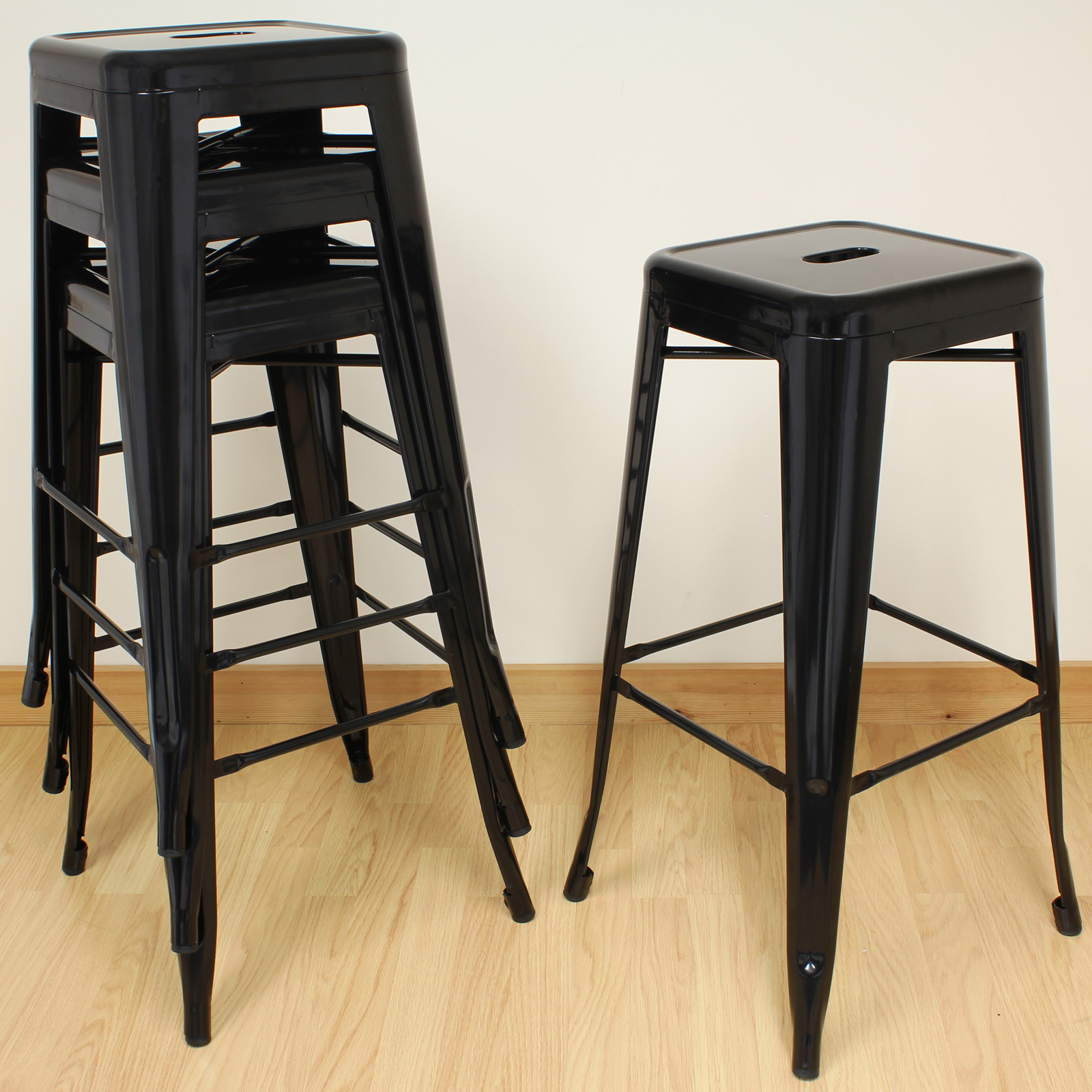 hartleys black metal high stools industrial breakfast bar cafe bistro