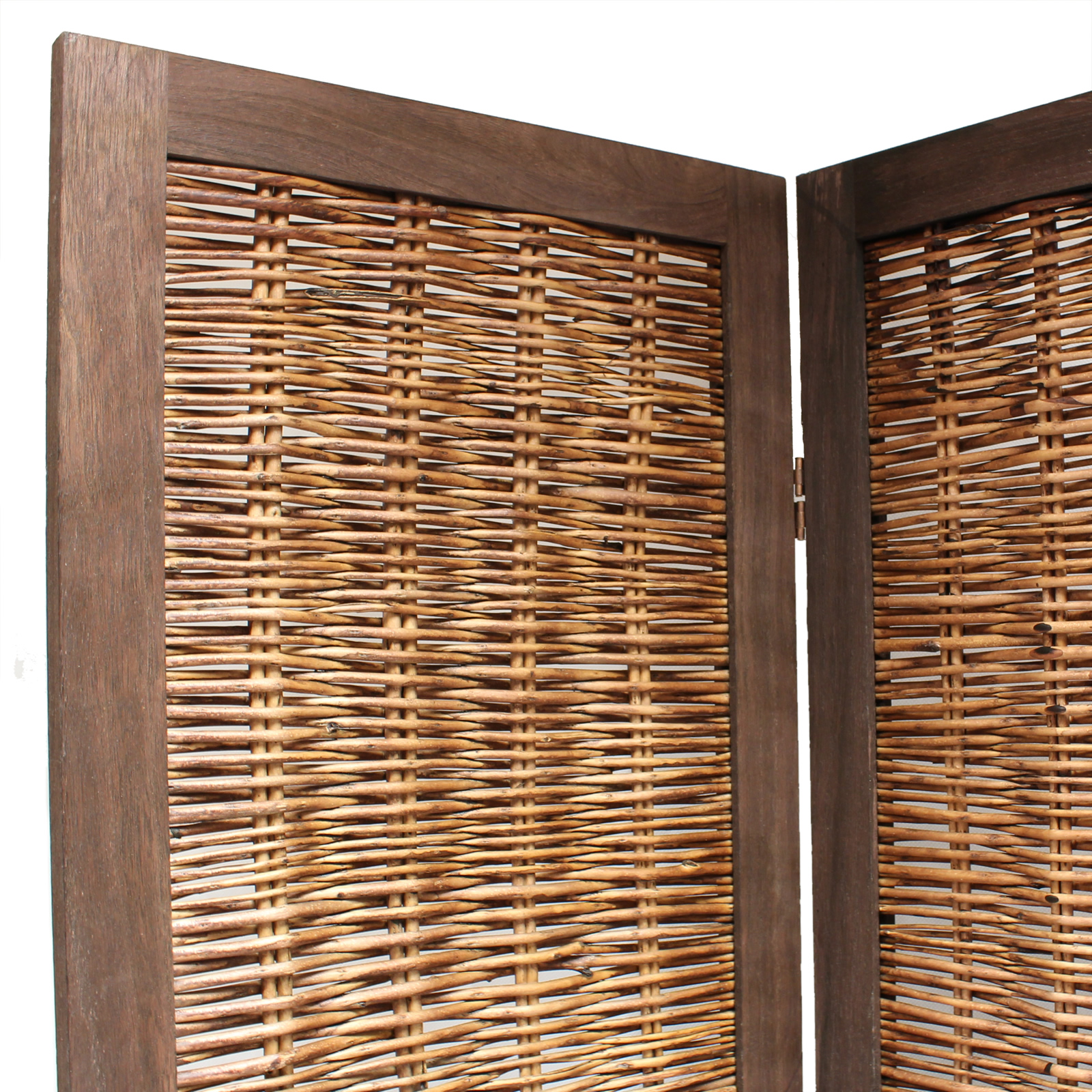 Wood Screens Room Dividers ~ Wooden framed wicker room divider privacy screen partition