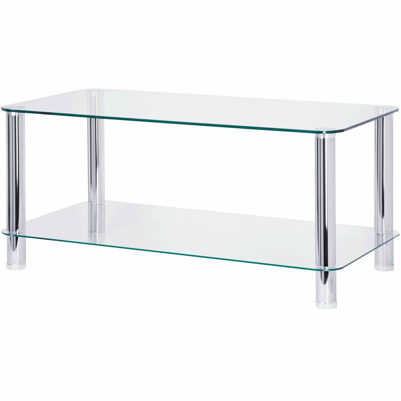 Habitat Herrmann Square Glass Coffee Table: Double Layer Glass Coffee Table