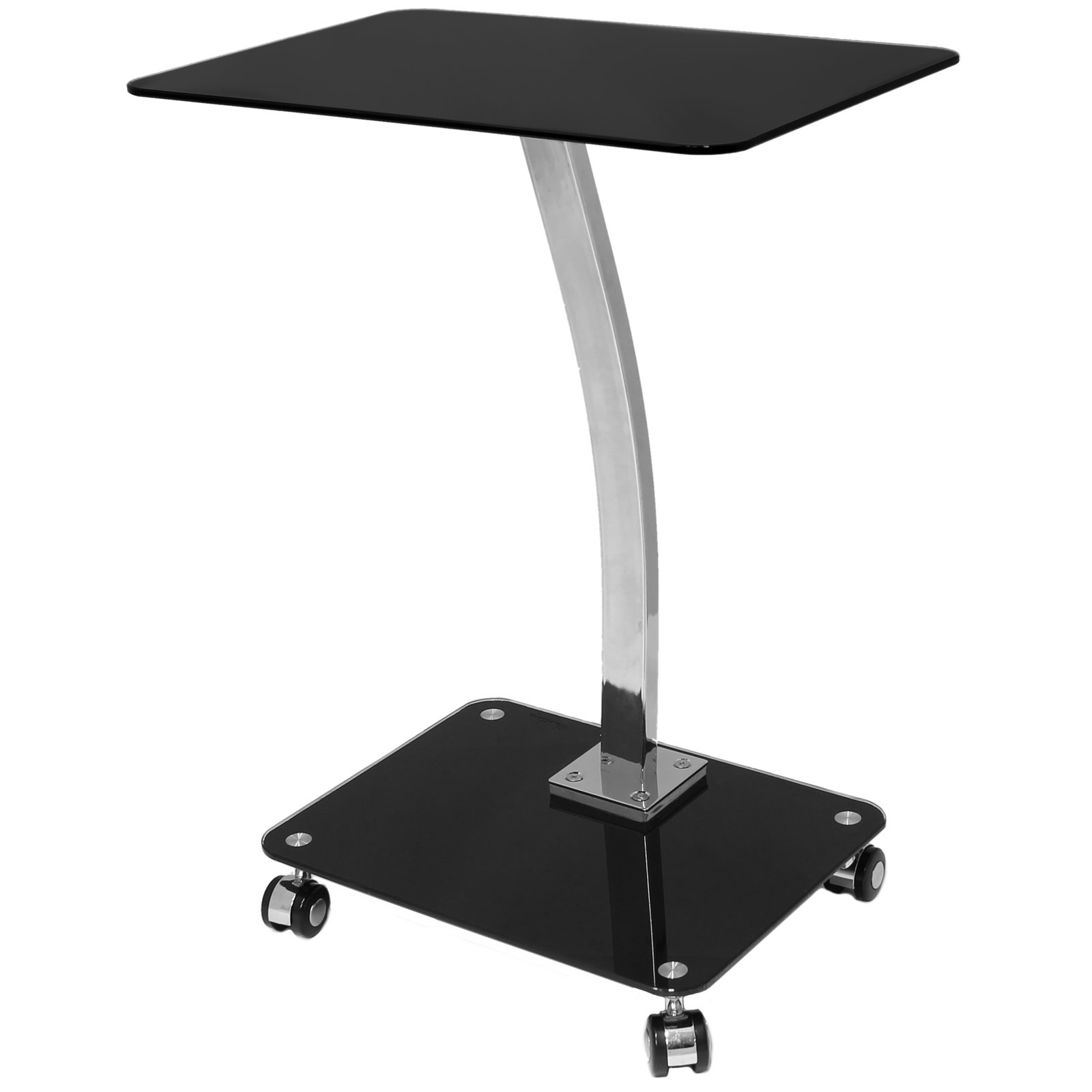 Glass laptop computer netbook stand desk table tray - Mesa auxiliar sofa ...