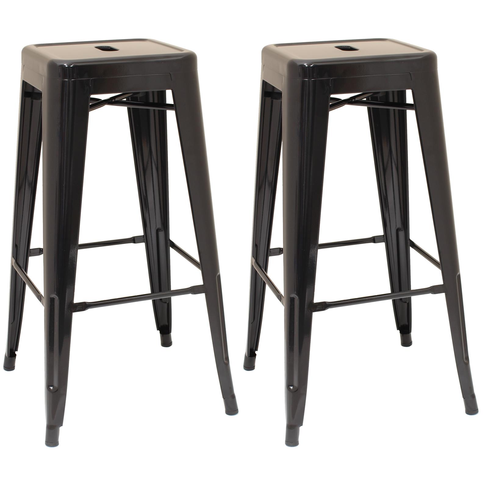 Black Metal Stool Cafe Breakfast Bar Seat Chair Industrial