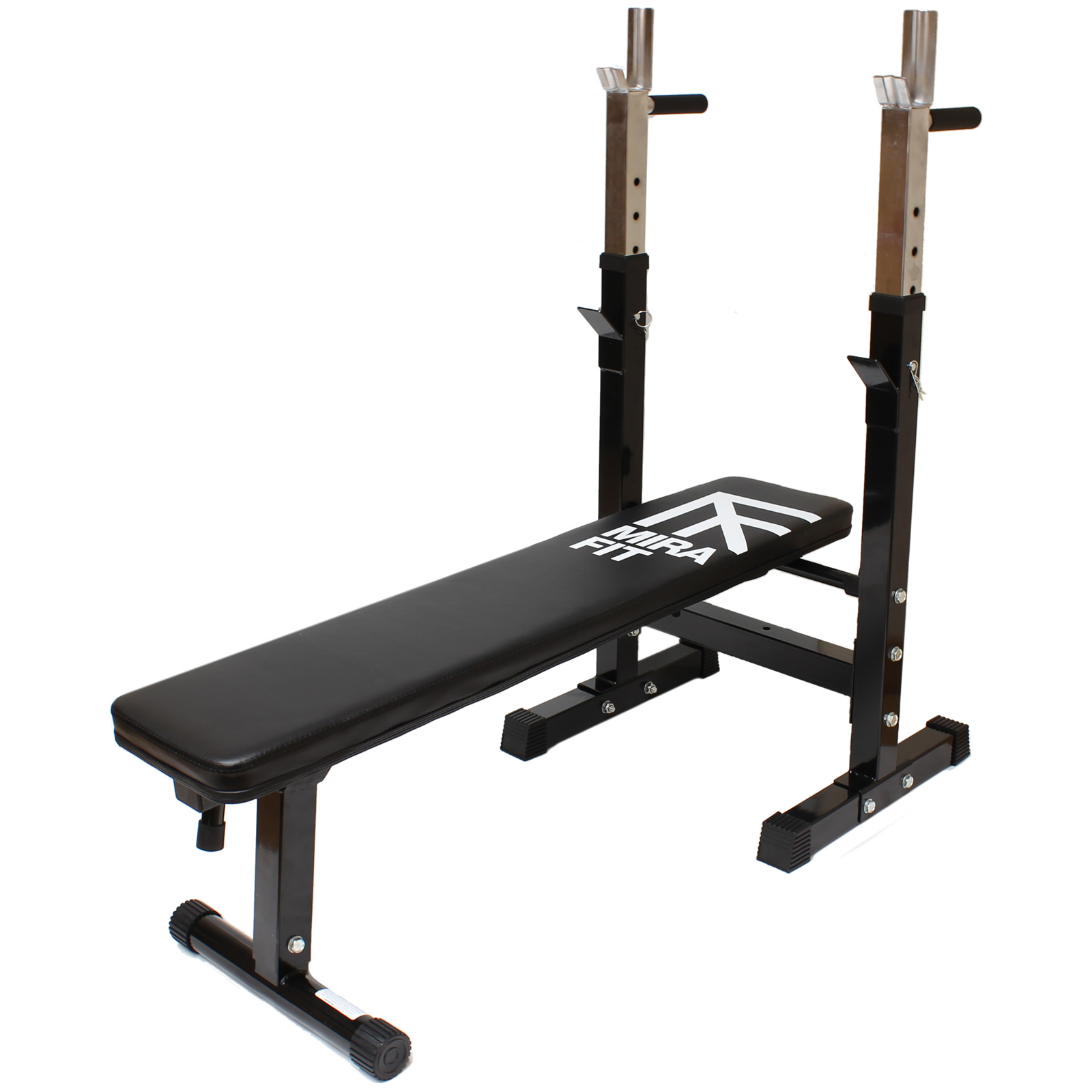 Mirafit adjustable folding flat weight bench dip station Bench weights
