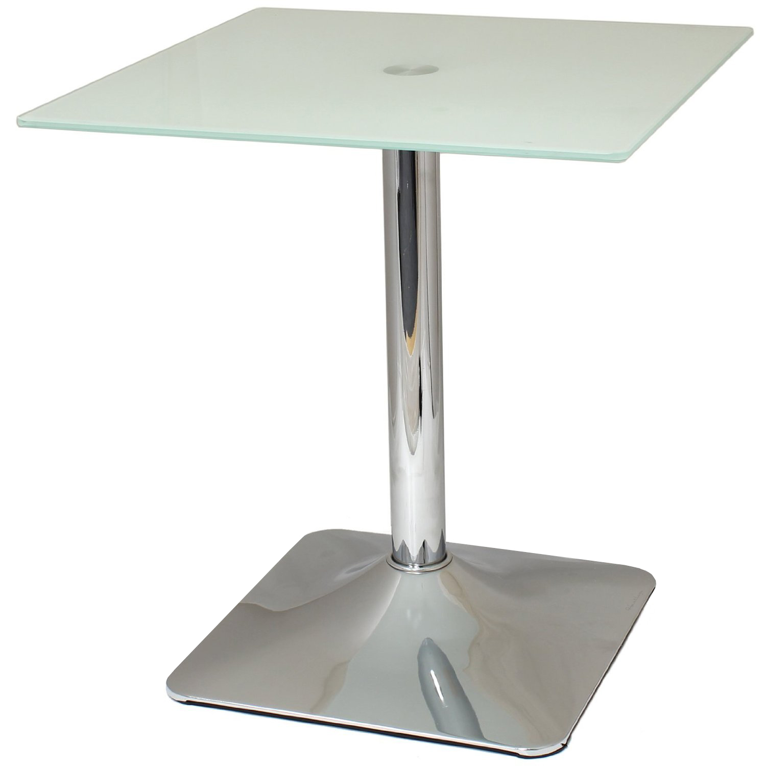 Square Top Side End Coffee Table White Glass Chrome Lounge Bedroom Living Room Ebay