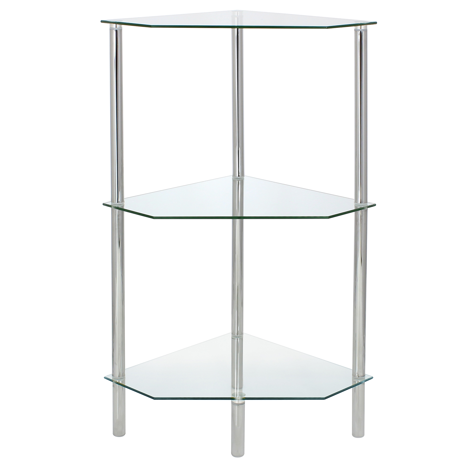 Glass Corner Shelf Shelving Unit Display Bathroom Hall End
