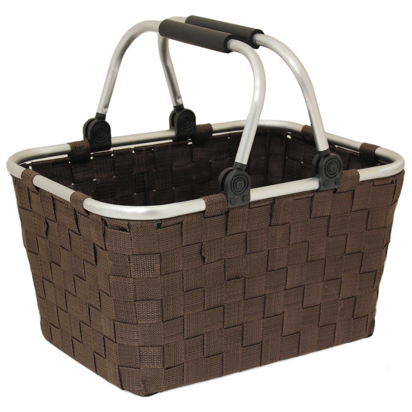 Woven Shopping Basket Uk : Strong woven material aluminium ping storage handle